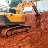escavação de subsolo