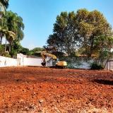 escavação para fundação