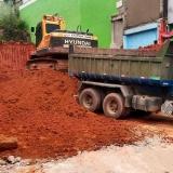 onde faz limpeza terreno obra Vila Gustavo