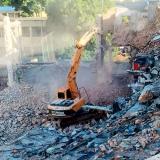 demolição de muros