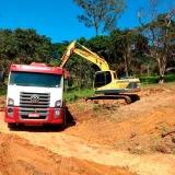 escavação a céu aberto