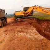 escavação de solo