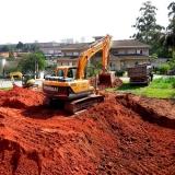 escavação de tubulação