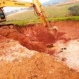 escavação de valas