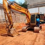 onde faz locação de mini escavadeira Praça da Arvore